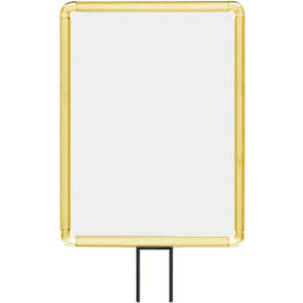 "lavi industries, vertical fixed sign frame, 50-1131f12v-s/gd, 11"" x 14"", for 13 posts, gold Lavi Industries, Vertical Fixed Sign Frame, 50-1131F12V-S/GD, 11"" x 14"", For 13 Posts, Gold"