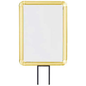 "lavi industries, vertical fixed sign frame, 50-1141f12v/gd, 8.5"" x 11"", for 13 posts, gold Lavi Industries, Vertical Fixed Sign Frame, 50-1141F12V/GD, 8.5"" x 11"", For 13 Posts, Gold"