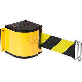 50-3016U/YL/18/SF Lavi Industries Yellow Quick Mount Barricade, 18L Black/Yellow Retractable Belt, Universal Mount
