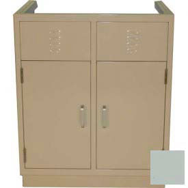 "lab base cabinet 35""w x 22-1/2""d x 35-3/4""h, louvered panels w/2 cupboard doors, stone gray Lab Base Cabinet 35""W x 22-1/2""D x 35-3/4""H, Louvered Panels W/2 Cupboard Doors, Stone Gray"