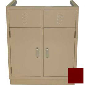 "lab base cabinet 35""w x 22-1/2""d x 35-3/4""h, louvered panels w/2 cupboard doors, burgundy Lab Base Cabinet 35""W x 22-1/2""D x 35-3/4""H, Louvered Panels W/2 Cupboard Doors, Burgundy"
