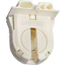23652-WP Leviton 23652-WP Fluorescent Lampholder, Med Bi-Pin, with Internal Shunt
