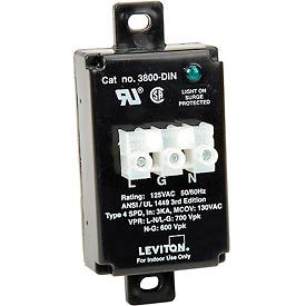 3800-DIN Leviton 3800-DIN DIN-Rail Mount Equipment Cabinet Surge Protection Device