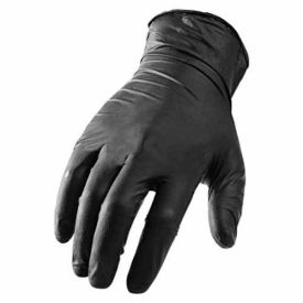 GNX-1KL Ni-Flex GNX-1K Industrial Grade Disposable Nitrile Gloves, Powder-Free, Black, Large, 100/Box