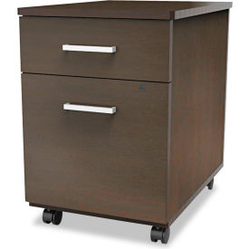 linea italia® mobile pedestal file - box/file drawer - mocha - trento series Linea Italia® Mobile Pedestal File - Box/File Drawer - Mocha - Trento Series