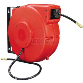 "L8250 Legacy; L8250 3/8""x50 300 PSI Enclosed Chassis Spring Retractable Plastic Air Hose Reel"
