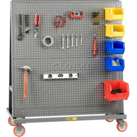 "little giant® mobile 2-sided pegboard lean tool rack, 60""w x 24""d Little Giant® Mobile 2-Sided Pegboard Lean Tool Rack, 60""W x 24""D"