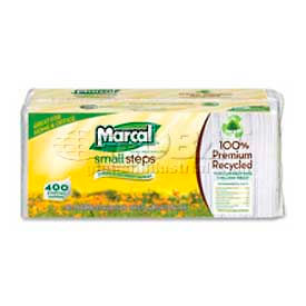 "marcal® mrc6506pk, lunch napkins, 12-1/2""w x 11-1/4""d, white,  400/pack Marcal® MRC6506PK, Lunch Napkins, 12-1/2""W x 11-1/4""D, White,  400/Pack"