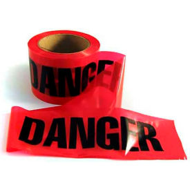 "mayday barricade tape, ee43, ""danger"", 300l roll, red/black Mayday Barricade Tape, EE43, ""Danger"", 300L Roll, Red/Black"