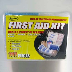 mayday first aid kit, fa-tk107, 107 pieces