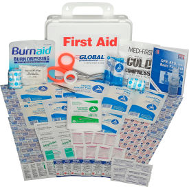 GF740ANSI Global Industrial First Aid Kit - 25 Person, ANSI Compliant, Plastic Case