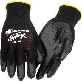 N9674L Ninja X Bi-Polymer Coated Palm Gloves, Memphis Glove N9674L, 1-Pair