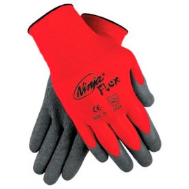 N9680M Ninja Flex Latex Coated Palm Gloves, MEMPHIS GLOVE N9680M, 1-Pair