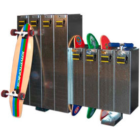 single-sided skateboard and longboard combo lockers, holds 4 skateboards/scooters and 4 longboards Single-Sided Skateboard and Longboard Combo Lockers, Holds 4 Skateboards/Scooters and 4 Longboards
