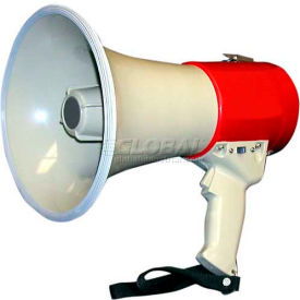 15 watt piezo dynamic megaphone with pistol grip, built-in siren & whistle 15 Watt Piezo Dynamic Megaphone With Pistol Grip, Built-In Siren & Whistle