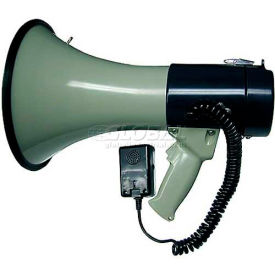 mg electronics piezo dynamic megaphone with built-in siren & hand-held mic, 25w MG Electronics Piezo Dynamic Megaphone With Built-In Siren & Hand-Held Mic, 25W
