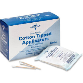 "medline mds202050 non-sterile cotton tipped applicators, 3"" length, box of 1000 Medline MDS202050 Non-Sterile Cotton Tipped Applicators, 3"" Length, Box of 1000"