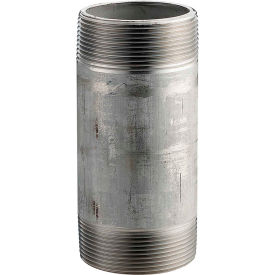 4016-600 1 In. X 6 In. 304 Stainless Steel Pipe Nipple - 16168 PSI - Sch. 40 - Domestic