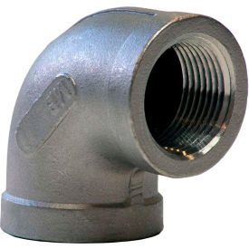 K401-16 1 In. 304 Stainless Steel 90 Degree Elbow - FNPT - Class 150 - 300 PSI - Import