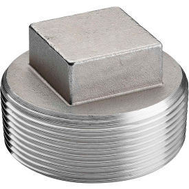 K417-20 1-1/4 In. 304 Stainless Steel Plug - MNPT - Class 150 - 300 PSI - Import