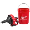 2571-20 Milwaukee; 2571-20 M12; Drain Snake Cleaning Machine (Tool Only) W/5 Gallon Bucket