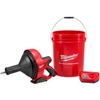 "2571-21 Milwaukee; 2571-21 M12; Drain Snake Cleaning Machine Kit W/5/16""x25 Cable & 5 Gal Bucket"