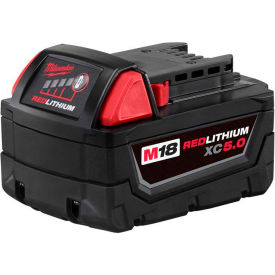 48-11-1850 Milwaukee; 48-11-1850 18V Li-Ion M18 Battery 5Ah Extended Capacity