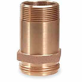 5358-1521 Fire Hose Rack Nipple - 1-1/2 In. NH x 1-1/2 In. NPT- Brass