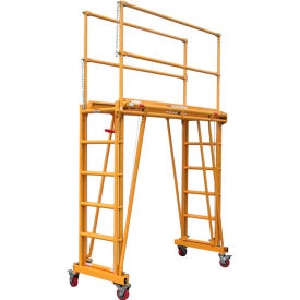 "paragon pro tele-tower® adjustable work platform, 104""l x 38""w x 118""h Paragon Pro Tele-Tower® Adjustable Work Platform, 104""L x 38""W x 118""H"