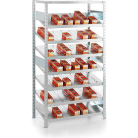 meta storage clip s3 gravity fed rack 14° add-on 79hx36wx20d (8xms230 shelves) galvanized Meta Storage CLIP S3 Gravity Fed Rack 14° Add-On 79Hx36Wx20D (8xMS230 shelves) Galvanized
