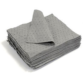 "GDML100 Universal Dimpled Absorbent Pads, Medium Weight, 18"" x 15"", Gray, 100/Bale"