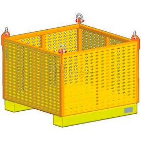 "m&w heavy duty steel vented container 11827 - 36"" x 36"" x 24"", 2500 lb. capacity M&W Heavy Duty Steel Vented Container 11827 - 36"" x 36"" x 24"", 2500 Lb. Capacity"