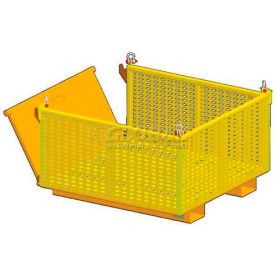 "m&w heavy duty steel vented container drop side 12902 - 48""x48""x 28"",2500 lb. capacity M&W Heavy Duty Steel Vented Container Drop Side 12902 - 48""x48""x 28"",2500 Lb. Capacity"