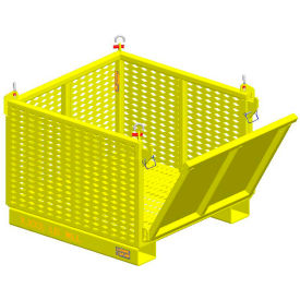 "m&w heavy duty steel vented container 17594 -  drop side 40""l x 37-1/2""w x 30""h, 2500 lb. capacity M&W Heavy Duty Steel Vented Container 17594 -  Drop Side 40""L x 37-1/2""W x 30""H, 2500 Lb. Capacity"