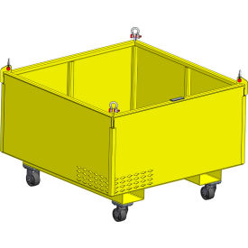 "m&w heavy duty steel vented container with casters 48"" x 48"" x 24"" - 2500 lb. capacity M&W Heavy Duty Steel Vented Container with Casters 48"" x 48"" x 24"" - 2500 Lb. Capacity"