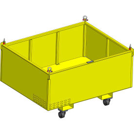 "m&w heavy duty steel vented container with casters 62"" x 48"" x 24"" - 2500 lb. capacity M&W Heavy Duty Steel Vented Container with Casters 62"" x 48"" x 24"" - 2500 Lb. Capacity"