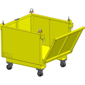 "m&w heavy duty steel vented container with drop side & casters 48"" x 40"" x 24"" - 2500 lb. capacity M&W Heavy Duty Steel Vented Container with Drop Side & Casters 48"" x 40"" x 24"" - 2500 Lb. Capacity"