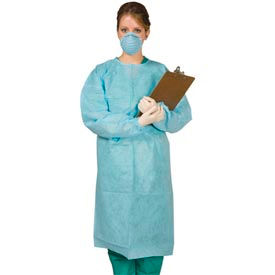 "SG-1000 Disposable Tie-Back Protective Gown 40""L, 10/Pack"