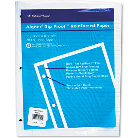 "national® brand rip proof reinforced filler paper 20122, 11"" x 8-1/2"", white, 100 sheets/pk National® Brand Rip Proof Reinforced Filler Paper 20122, 11"" x 8-1/2"", White, 100 Sheets/PK"