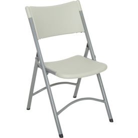 602 Folding Chair - Blow Molded Resin - Gray