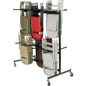 84 Chair Cart with Double Tier for Folding Chairs - Holds 84 Chairs