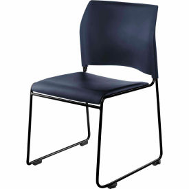 stacking chair - vinyl - blue seat with black frame - 8700 series Stacking Chair - Vinyl - Blue Seat with Black Frame - 8700 Series