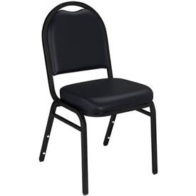 "nps stacking chair - 2"" vinyl seat - dome back - black seat with black frame NPS Stacking Chair - 2"" Vinyl Seat - Dome Back - Black Seat with Black Frame"