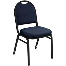 "nps stacking chair - 2"" fabric seat - dome back - blue seat with black frame NPS Stacking Chair - 2"" Fabric Seat - Dome Back - Blue Seat with Black Frame"