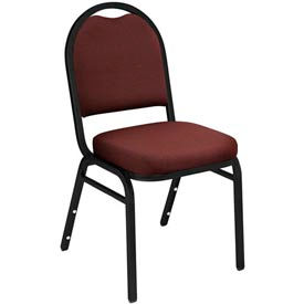 "nps stacking chair - 2"" fabric seat - dome back - burgundy seat with black frame NPS Stacking Chair - 2"" Fabric Seat - Dome Back - Burgundy Seat with Black Frame"