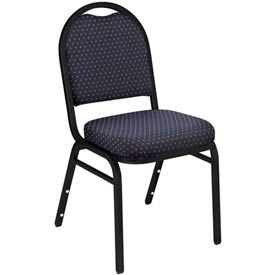 "nps stacking chair - 2"" fabric seat - dome back - navy seat with black frame NPS Stacking Chair - 2"" Fabric Seat - Dome Back - Navy Seat with Black Frame"