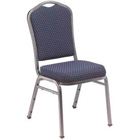 "nps banquet stacking chair - 2"" fabric seat - silhouette back - navy seat with silver frame NPS Banquet Stacking Chair - 2"" Fabric Seat - Silhouette Back - Navy Seat with Silver Frame"