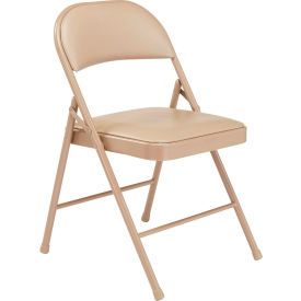 951 Steel Folding Chair with Padded Vinyl - Beige