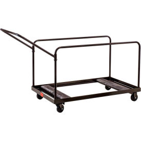 DYMU Multi-Use Table Transport Dolly Cart - Brown - 10 table capacity