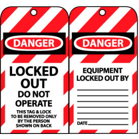 LOTAG34 Lockout Tags - Locked Out Do Not Operate